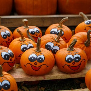 halloween, fall, pumpkins, smiley