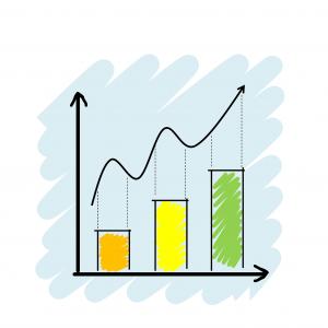 increasing line graph